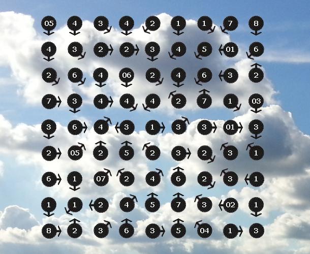 grid of arrows