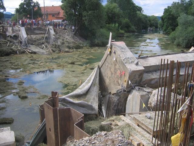Stari most po miniranju