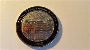 Denver Public Library Geocoin