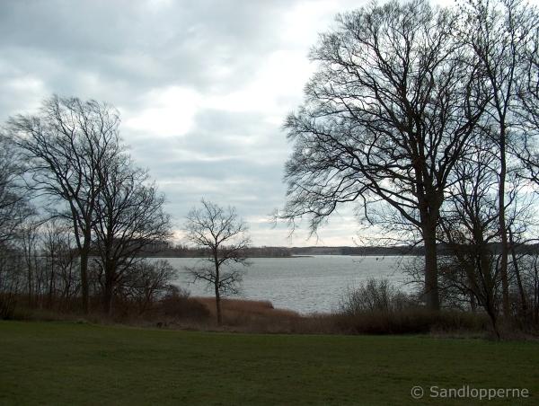 Udsigt fra parken mod Glænø