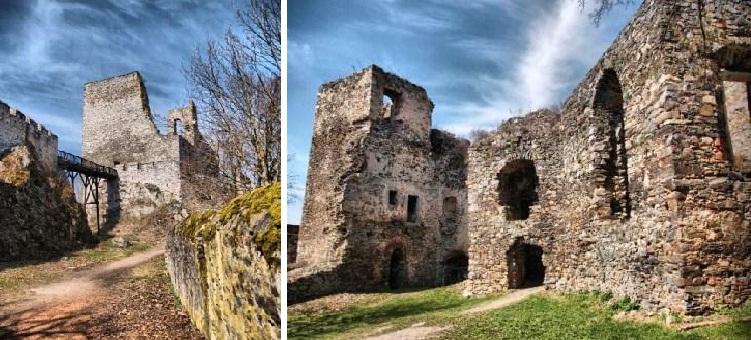 Současný stav hradu, díky němuž je dnes právem nazýván zříceninou.