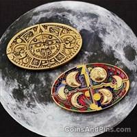 Aztec Puzzle Moon Geocoin