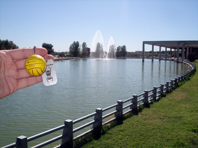 Tb1rn6k travel bug dog tag waterpolo big ball 6 for Piscina luis aragones