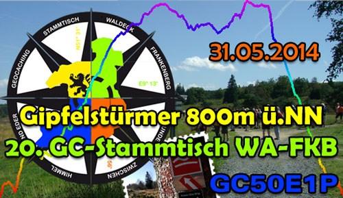 Gipfelstürmer 800m ü.NN - 20. GC-Stammtisch WA-FKB