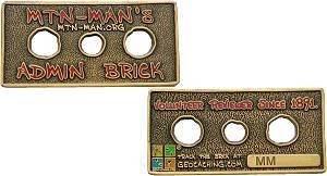 mtn-man Admin Brick Geocoin