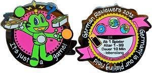 """2012 German Reviewer Geocoin """"It's just a game!"""""""