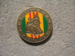 "Vietnam War ""Mr. Eddy"" Geocoin"