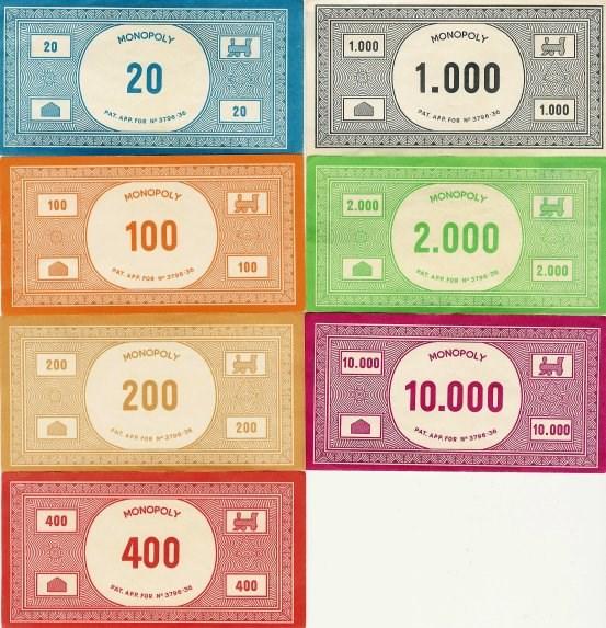 Startgeld Monopoly Dm