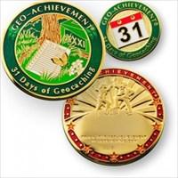 Geo-achievement 31Days of Geocaching Coin