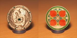 Caching with Dragons Geocoin