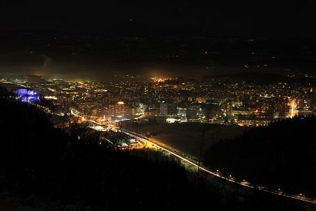 Night view from Koželj