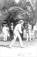 President Harding playing golf in Florida