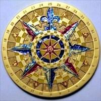 Compass Rose 2007 Antique Bronze
