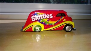 """Toby One""  Skittles van--His favorite candy!"