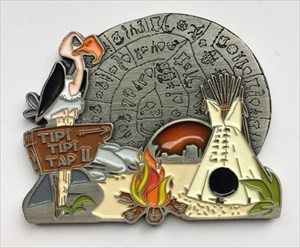 LordT's Tipi Tipi Tap II Geocoin Front