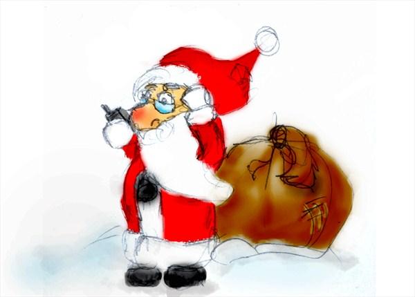Weihnachtsmann mit GPS