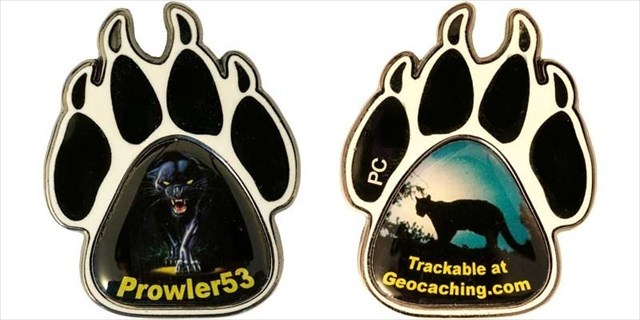 Prowl53 Personal Geocoin - Prowling Panther Personal Geocoin
