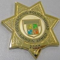 Police Geocaching Squad 2007 Geocoin Garmin