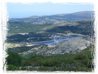 A Lagoa do Rossim lá ao fundo...