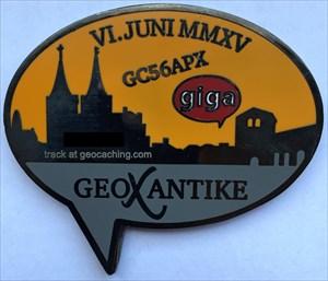 LordT's GeoXantike 2015 GIGA Geocoin - Back