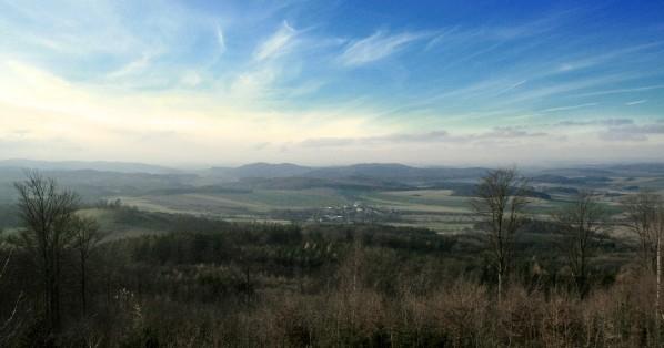 Vyhled z Belce na jihozapad