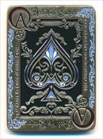 The Caching Ace Geocoin - front