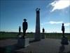 The memorial to the fallen Mounties.
