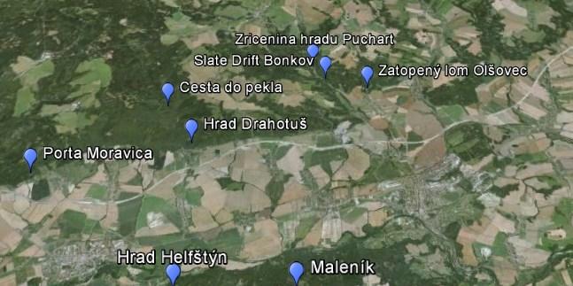 mapa Trollího údolí