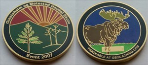 The Moose Forest Geocoin