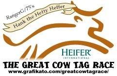 Hank the Hefty Heffer's Racer Tag