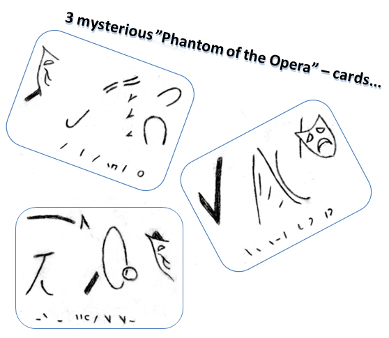 Three mysterious cards (needed to find the Phantom!)
