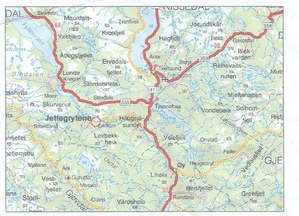treungen kart GCQHE8 Jettegrytene i Nissedal # 10 (Traditional Cache) in  treungen kart