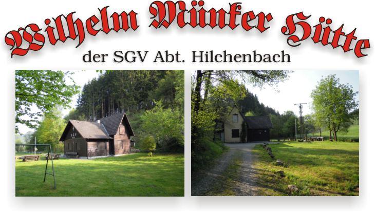 Wilhelm Münker Hütte - SGV Abt. Hilchenbach