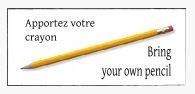 Apportez votre crayon