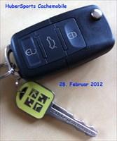 Die Schlüssel + Coin von HuberSports Cachemobile