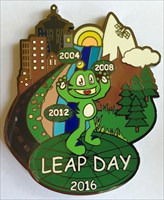 LordT's Leap Day 2016 GE Geocoin - Front