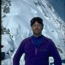 Ken at camp 1 on Mt Logan East Ridge