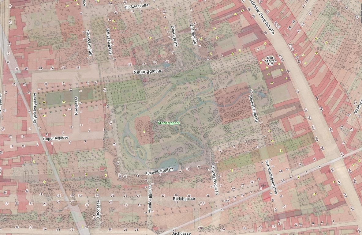 Karte Behsel 1824