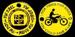 Look Twice - Motorcycle - yellow