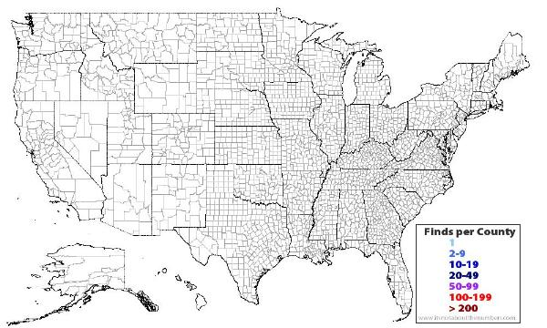 GCVX The County Challenge US Counties Unknown Cache In - Map of every county in the us