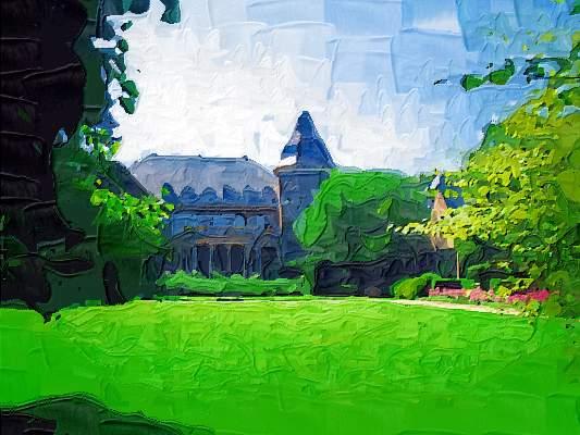 Gemälde: Garather Schlosspark von  DieGo 2006
