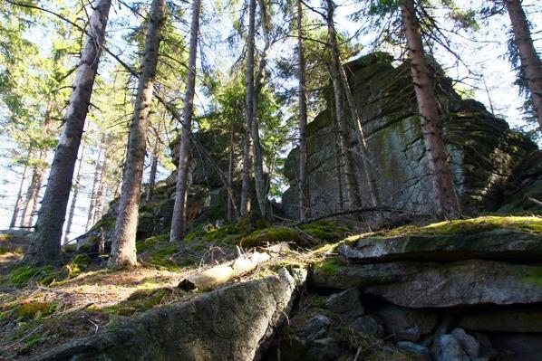 Vrcholové skály Dřevěné hole