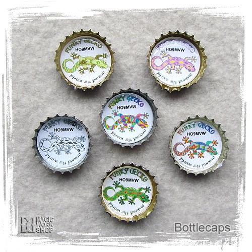 Funky Gecko Bottlecaps