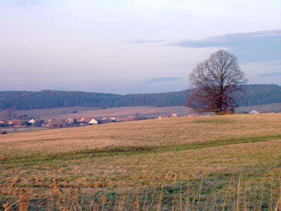 Ostřetín-Kříž na kopci Chmelnice
