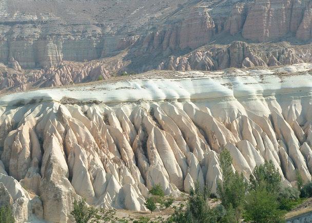 Cappadocian tuff, Turkey.