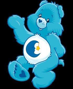 (TBH8QJ) Travel Bug Dog Tag - Care Bear - Bedtime Bear
