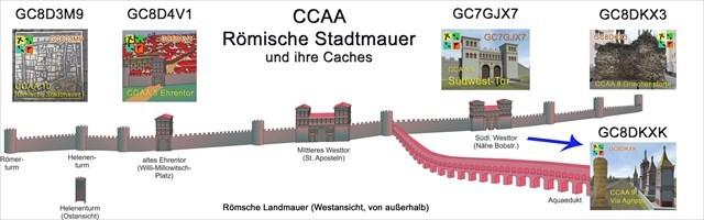 Römische Stadtmauer mit Caches