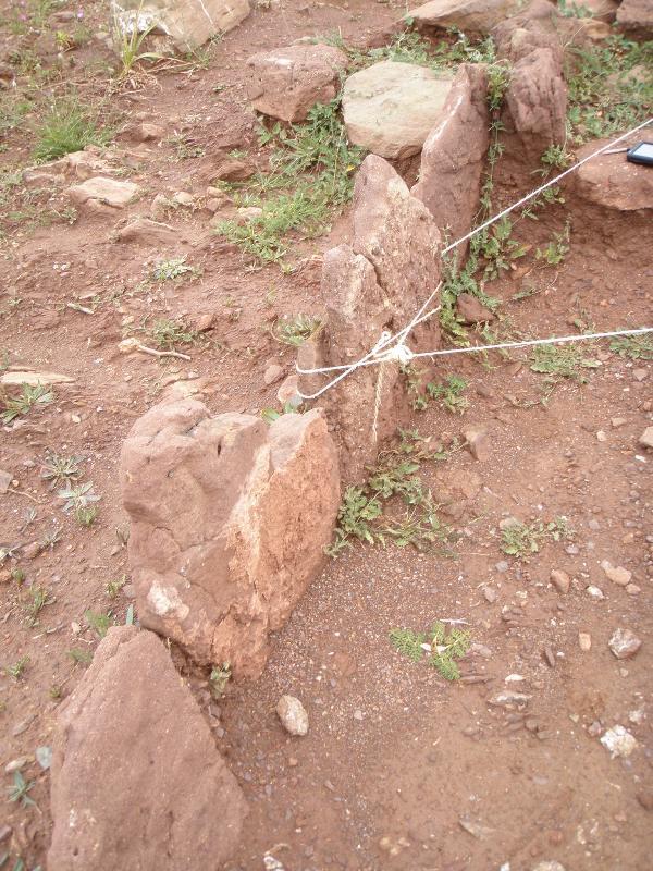 Pedras alinhadas