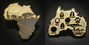 African Safari Geocoin Two Tone Gold