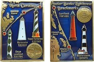 Outer Banks Lighthouse Benchmark Geocoin